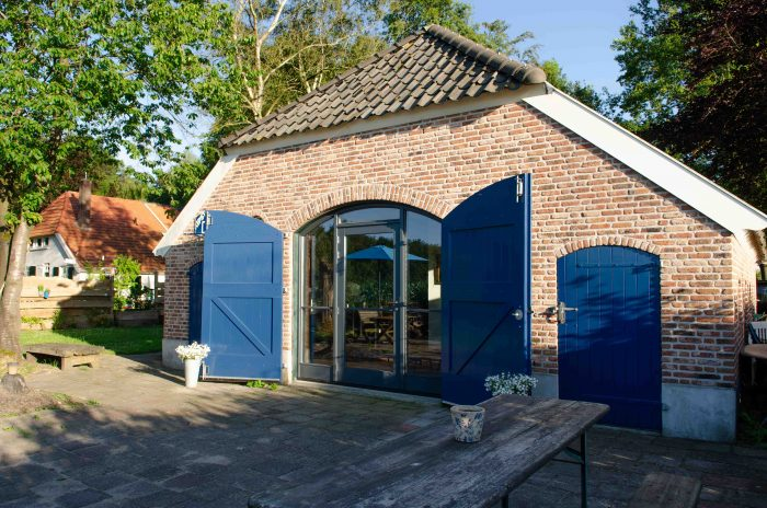 The Blue Barn achtertuin