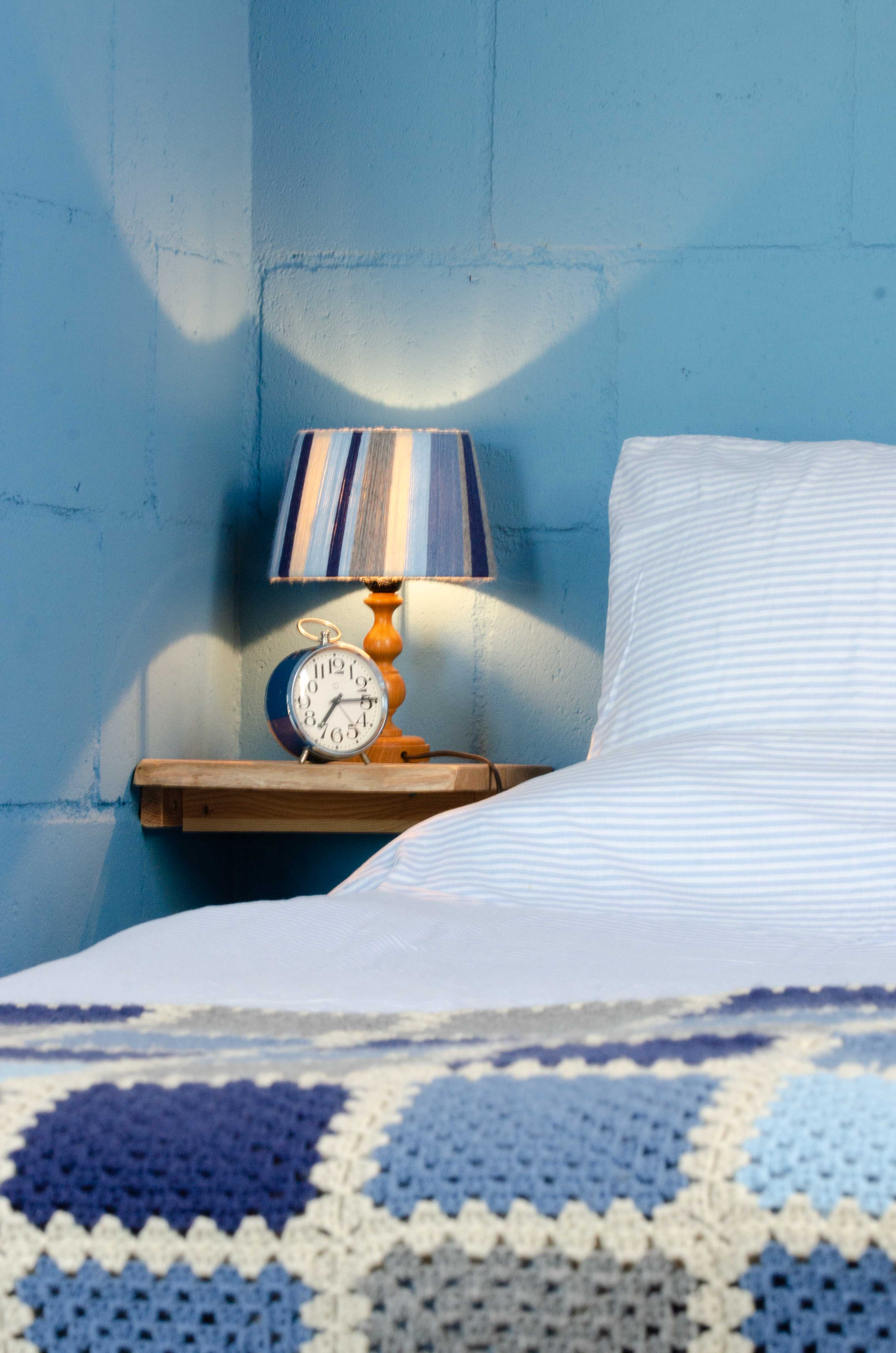 Bed in the Blue Barn
